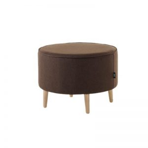 Mario Strong Wooden Frame Fabric Stool - Brown