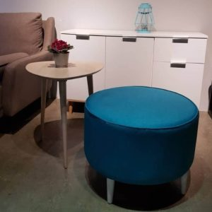 Mario Strong Wooden Frame Fabric Stool - Blue