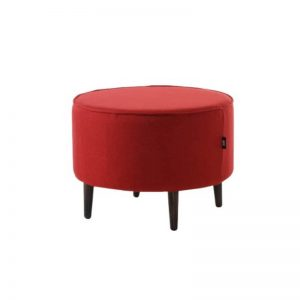 Mario Strong Wooden Frame Fabric Stool - Red
