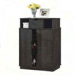 2 Doors Shoe Cabinet Dark Color