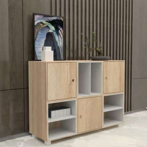 [CLEARANCE] SCOTT 4 feet sideboard/ filling cabinet/ bookcase