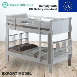 SUDBURY solid wooden single size bunk bed