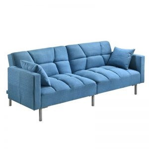 Combi Super Wide 3 Seater Sofa Bed - Blue