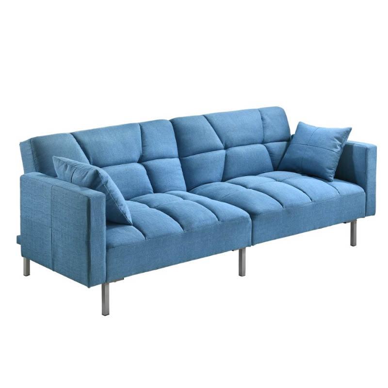 Combi Super Wide 3 Seater Sofa Bed   Blue ...
