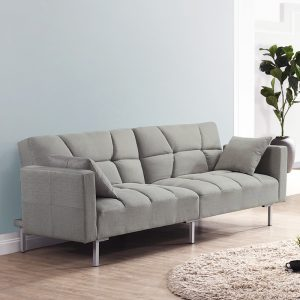 Combi Super Wide 3 Seater Sofa Bed – Light Grey