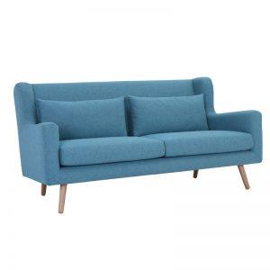 Safari 3 Seater Sofa - Natural + Parsley