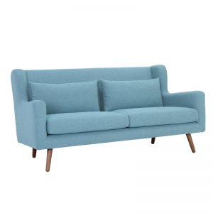 Safari 3 Seater Sofa - Cocoa + Aquamarine