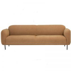 Miura 3 Seater Sofa - Matt Black Epoxy colour + Turmeric colour