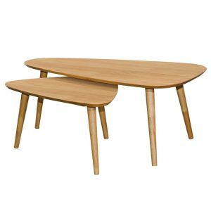 ARCHI Scandinavian solid wood triangle nesting table-natural