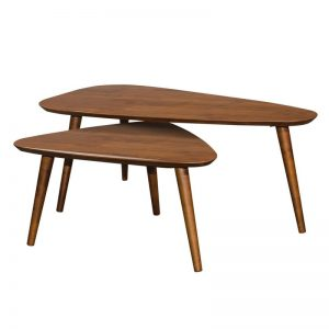 ARCHI Scandinavian solid wood triangle nesting table-walnut