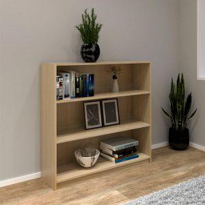 [CLEARANCE] HADI 3 Tier bookcase-Beech