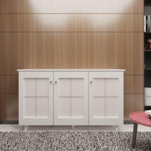 [CLEARANCE] KRISTY 3 door high shoe cabinet with PVC door panel