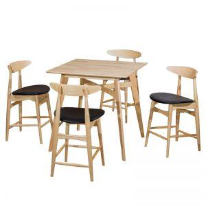 """LATIN 4 seater 24"""" bar dining set-natural"""