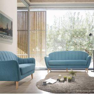 LOCCA 2+3 Scandinavian fabric sofa