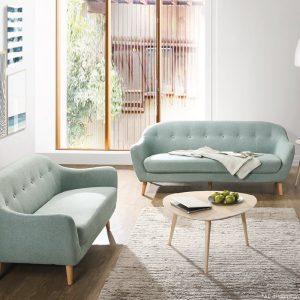 LUNA 2+3 Scandinavian fabric sofa