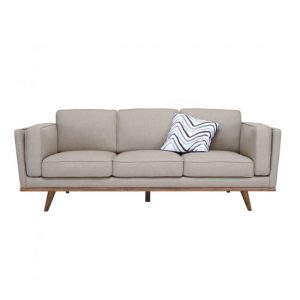 Civic 3 Seater Sofa – Cocoa + Sandstone