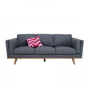 Civic 3 Seater Sofa - Cocoa + Space Blue