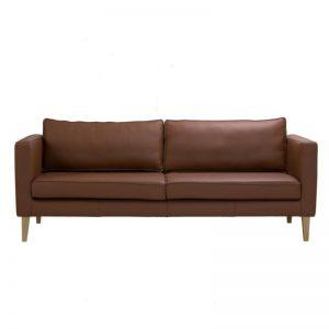Catera 3 Seater Sofa - Smoke Oak + Onyx