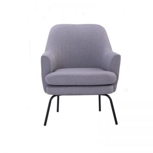 Lucian Lounge Chair - Pewter Grey