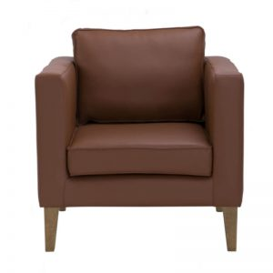 Catera Single Seater Sofa - Smoke Oak + Hickory