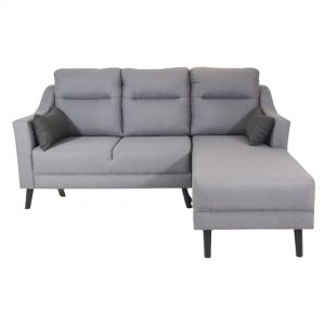 SABRINA 3 seater L shaped water repellent fabric sofa [custom made]