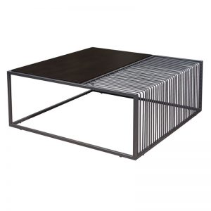 MADRID industrial metal frame coffee table-black