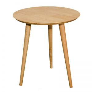 ZIPPO D51cm full solid wood side table-natural