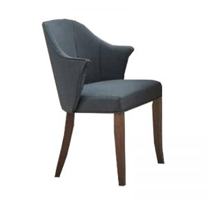 Gold 23-413-WL Rubber Wood Dining Chair Grey