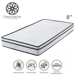 DREAMCATCHER 8″ single size eurotop quilting rebonded foam mattress