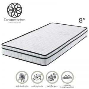 "DREAMCATCHER 8"" single size eurotop quilting rebonded foam mattress"
