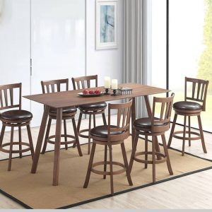 HUDSON solid wood 6 seater high bar set