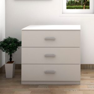 MEMPHIS 3 drawer chest drawer- White