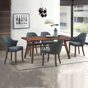 Gold 19-255-WL Rubber Wood Dining Table Walnut