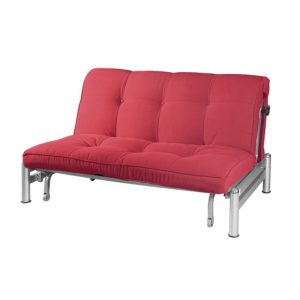 15705 Fabric Sofa Bed - Red