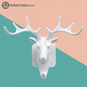 Stag head heavy duty hooks and hangers-White