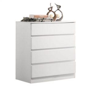 BRENDA 4 drawer chest- white