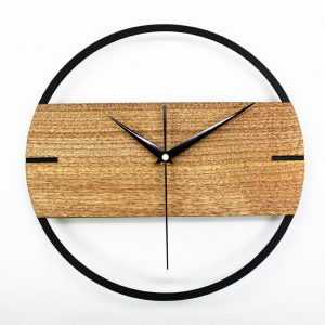Industrial style 30cm solid wood wall clock