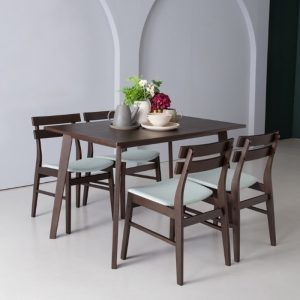 AUGUSTUS solid wood 4 seater dining set