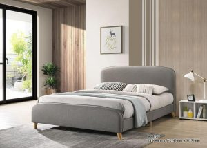 TAYLOR queen size fabric bed frame