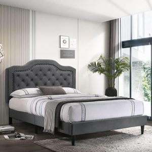 CHARLIE queen size fabric bed frame