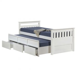 LT1242 solid wooden single size captain bed
