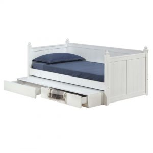 LT1245 solid wooden single size daybed with drawers storage