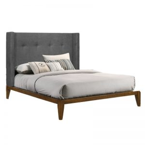 NATE solid wood queen size bed frame