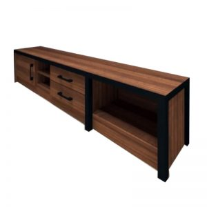 HC-B606 Chipboard 5FT TV Cabinet Brown Oak