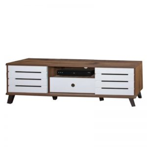 HC-C503 Chipboard 5FT TV Cabinet Columbia Walnut + White