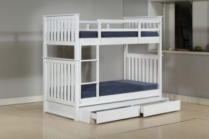 LT1248 solid wooden single size bunk bed with drawers storage