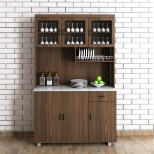 Frey 3 door Kitchen Cabinet