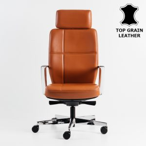 Merryfair SONOMA top grain leather high back chair
