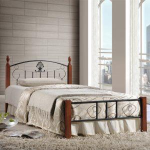 Timor wooden post single metal bed frame
