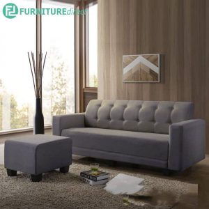 ALICE L shaped 3 seater sofa with stool-grey